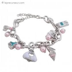 Bracelet fantaisie pendeloques mode