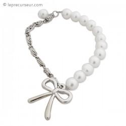 Bracelet double matière avec nœud