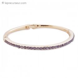 Bracelet mince et ses strass mauves