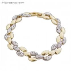 Bracelet galets dorés et argents
