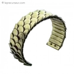 Bracelet écailles dorées ajustable