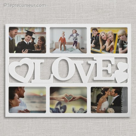 Cadre 6 photos au design romantique