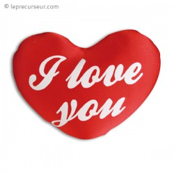 Coussin coeur I love you