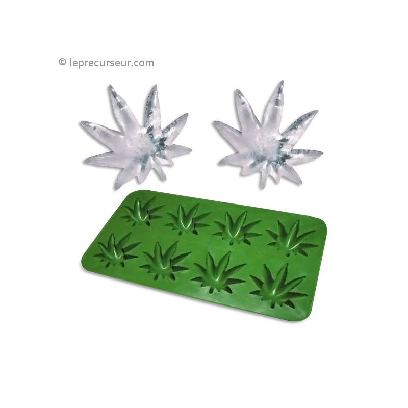 bac glacons feuille de cannabis en silicone. Black Bedroom Furniture Sets. Home Design Ideas