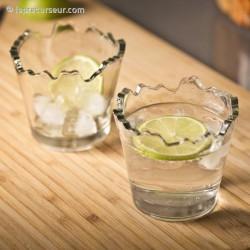 2 verres ébréchés déchiqueté