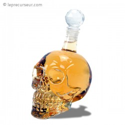 Vouteille conservation alcool en forme de crâne en crystal
