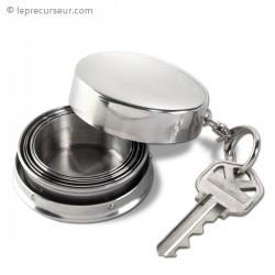 Verre télescopique en inox avec porte -clés