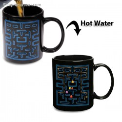 Tasse thermo-changeante jeu d'arcade Pacman