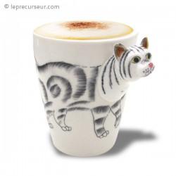 Mug chat 3D en céramique