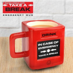 Mug In case of emergency en céramique