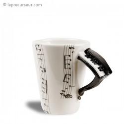 Tasse partitions de musique anse piano