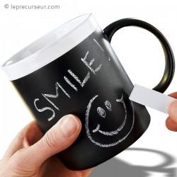 Tasse en céramique tableau noir à la craie