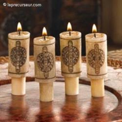 4 bougies apparence bouchon de vin