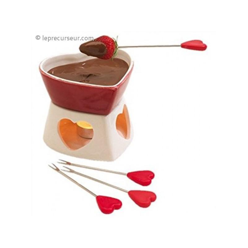 fondue chocolat en forme de c ur. Black Bedroom Furniture Sets. Home Design Ideas